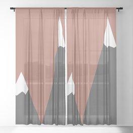 Pink Mountains Sheer Curtain