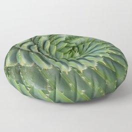 Green spirale Floor Pillow