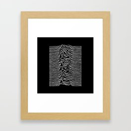 Joy Division lines Framed Art Print