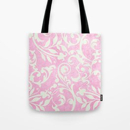 Shabby Chic pink damask Tote Bag