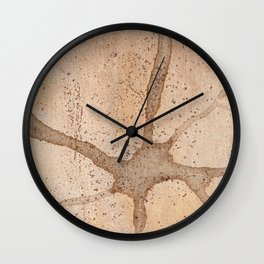 Abstract Aerial Desert View Wall Clock