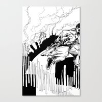 maze runner Canvas Prints featuring Runner by Michael Tuck