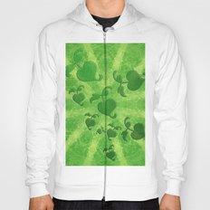 Vine leaves on green kaleidoscope Hoody