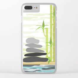 Feng shui meditation Clear iPhone Case