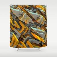 transformer Shower Curtains featuring Transformer Fish by Kunstbehang / Edwin van Munster