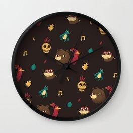 banjo pattern Wall Clock