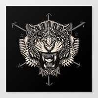 bioworkz Canvas Prints featuring Eye of the Tiger by BIOWORKZ