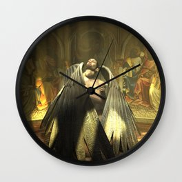 Angel Forsaken Wall Clock
