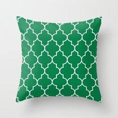 Constantine Lattice in Emerald Throw Pillow