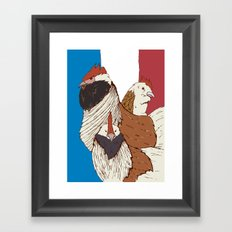 Three French Hens Framed Art Print
