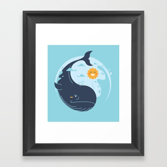the great whale Framed Art Print