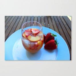 sangria series (#2 - strawberry peach chardonnay) Canvas Print