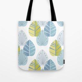 Mid-Century Modern Leaves Tote Bag