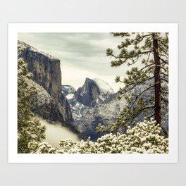 Half Dome Yosemite Winter 1-19-18 Art Print