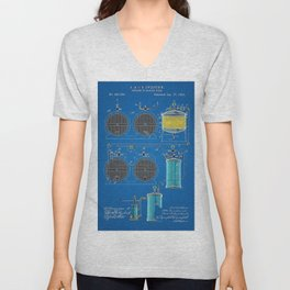 O. & O. B. Zwietusch Beer Brewing Making Patent No. 1 Blue Vintage Poster Wall Decor Unisex V-Neck