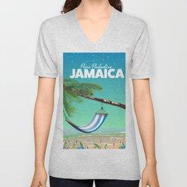 'Pure Paradise' Jamaica travel poster Unisex V-Neck
