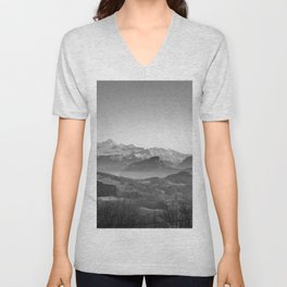 The View (Black and White) Unisex V-Neck