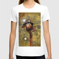 steampunk T-shirts featuring Steampunk, giraffe by nicky2342