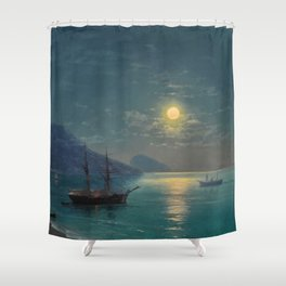 Evening in Crimea by Ivan Aivazovsky Shower Curtain