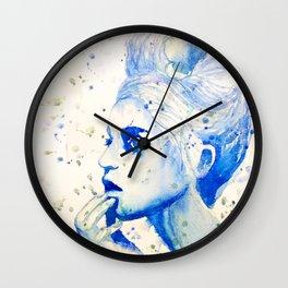 Pondering Girl Wall Clock