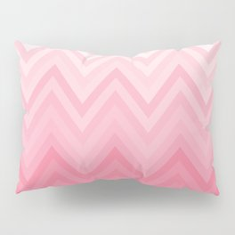 Fading Pink Chevron Pillow Sham