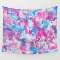 water colour Wall Tapestries featuring Water Colour Pattern by Andrea Raths
