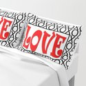 LOVE XOs Valentine Typography Digital Illustration, Modern Artwork by pipafineart
