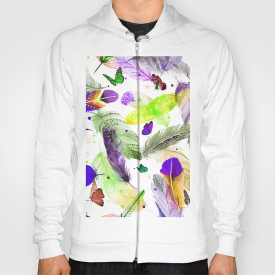 feathers and butterflies Hoody