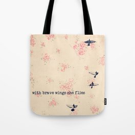 she flies Tote Bag