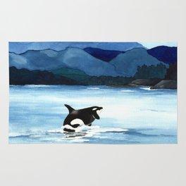 Orca Breach Rug
