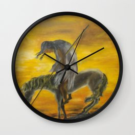 Indian on a horse Wall Clock
