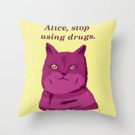 PLEASE, STOP! Throw Pillow