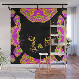 Purple Streak Quad Cat Wall Mural
