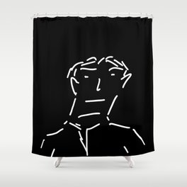 Dashing Man Shower Curtain