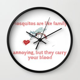 Mosquitos and family Wall Clock