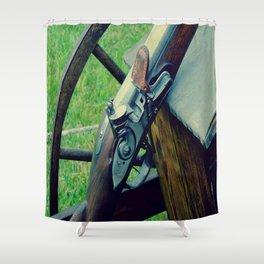 Old Muzzleloader  Shower Curtain