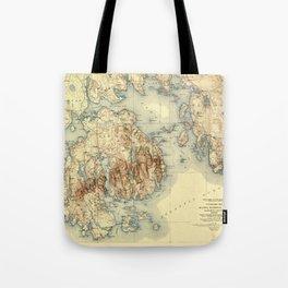 Map Of Acadia National Park 1931 Tote Bag