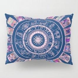 Major Arcana & Wheel of the Zodiac | Pastel Goth Pillow Sham