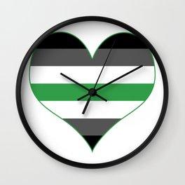Agender Heart Wall Clock