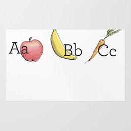 Fruit + Veggie Alphabet: Apple Rug