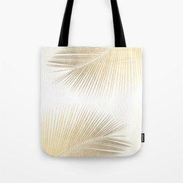Palm leaf synchronicity - gold Tote Bag