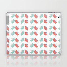 Cute coral green modern bird illustration Laptop & iPad Skin