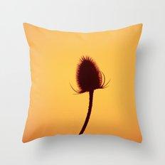 Golden Teazle Glow Throw Pillow
