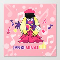 minaj Canvas Prints featuring Jynxi Minaj  by The Art of Leena Cruz :)