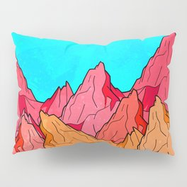 The Red and Orange Mounts Pillow Sham