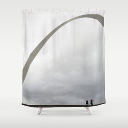 Gateway Arch and people Shower Curtain