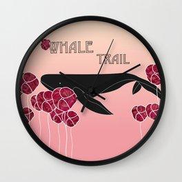 Whale Trail Wall Clock