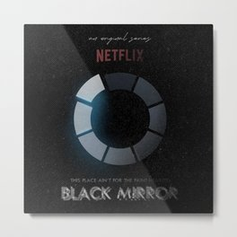 Black Mirror, minimalist tv series poster, alternative movie print, netflix Metal Print