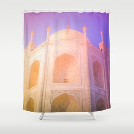 Morning Light Reflexion at Taj Mahal Shower Curtain