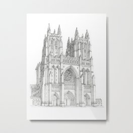 Washington National Cathedral Metal Print